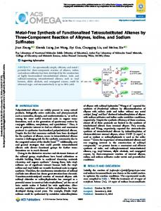 Metal-Free Synthesis of Functionalized