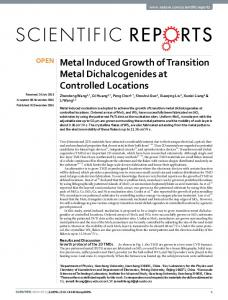 Metal Induced Growth of Transition Metal