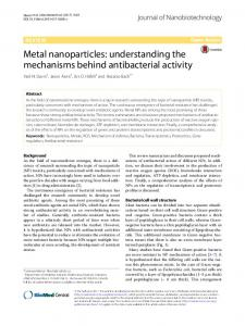 Metal nanoparticles: understanding the ... - Semantic Scholar