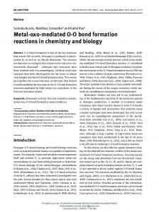 Metal-oxo-mediated OO bond formation reactions in