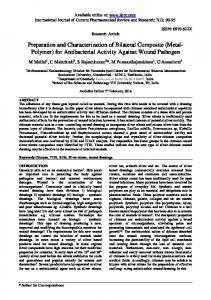 (Metal- Polymer) for Antibacterial Activity Against ...
