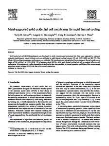 Metal-supported solid oxide fuel cell membranes for rapid thermal ...