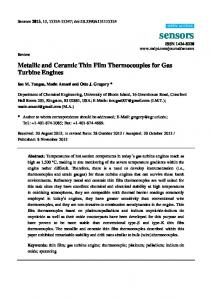 Metallic and Ceramic Thin Film Thermocouples for Gas ... - MDPI