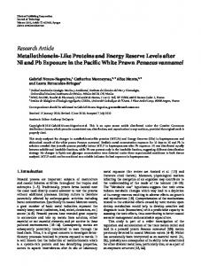 Metallothionein-Like Proteins and Energy Reserve Levels after Ni and ...