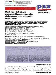 Metalsupported catalysts encapsulated in