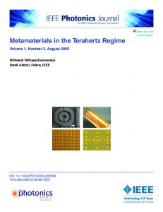 Metamaterials in the Terahertz Regime