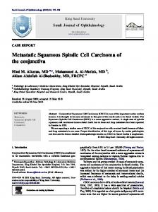Metastatic Squamous Spindle Cell Carcinoma of the conjunctiva - Core