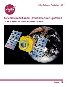 Meteoroids and Orbital Debris: Effects on Spacecraft - CiteSeerX