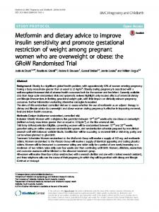 Metformin and dietary advice to improve insulin ... - Springer Link
