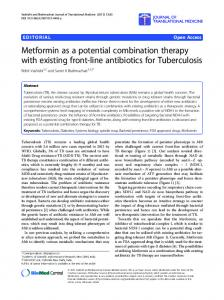 Metformin as a potential combination therapy with ... - Springer Link