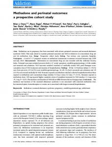 Methadone and perinatal outcomes: a ... - Wiley Online Library