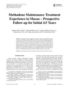 Methadone Maintenance Treatment Experience in ...