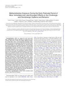 Methamidophos Exposure During the Early Postnatal ...