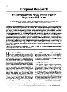 Methamphetamine abuse and emergency department utilization.