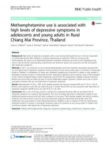 Methamphetamine use is associated with high levels of ... - Springer Link