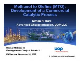 Methanol to Olefins: Development of a Commercial