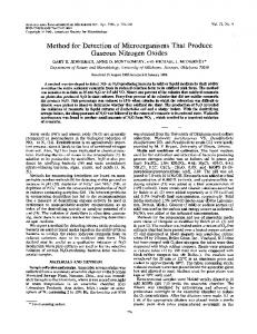 Method for Detection of Microorganisms That Produce - Applied and ...