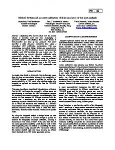 Method for Fast and Accurate Calibration of Litho ... - PDF Solutions