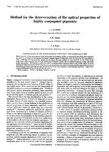 Method for the determination of the optical properties of ... - CiteSeerX