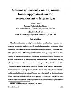 Method of unsteady aerodynamic forces approximation for ...