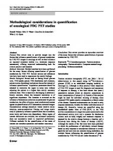 Methodological considerations in quantification of ... - Springer Link