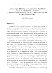Methodological Duality and Conceptual Plurality of ... - Researchmap