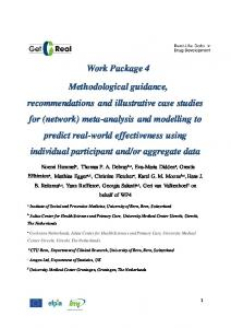 Methodological guidance, recommendations and illustrative case ...