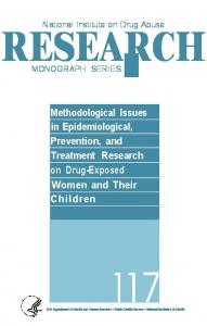Methodological Issues in Epidemiological ... - (NIDA) Archives