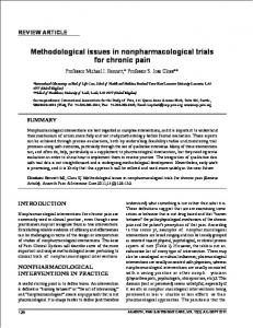Methodological issues in nonpharmacological trials ...