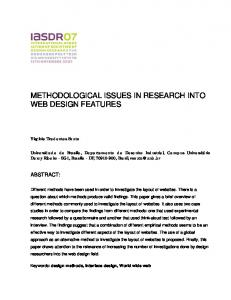 Methodological Issues in Research into Web Design ... - PolyU Design