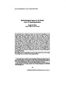 Methodological Issues in the Social Cost of Gambling ... - Springer Link