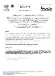 Methodological Issues of Elaborating and ... - ScienceDirect