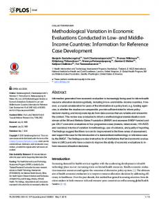 Methodological Variation in Economic Evaluations Conducted ... - PLOS