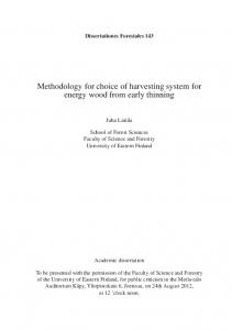 Methodology for choice of harvesting system for energy wood from ...