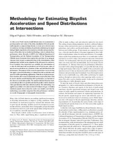 Methodology for Estimating Bicyclist Acceleration and Speed