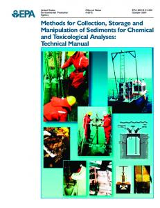 Methods for Collection, Storage and Manipulation of Sediments for ...
