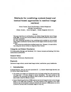 Methods for combining content-based and textual-based approaches ...