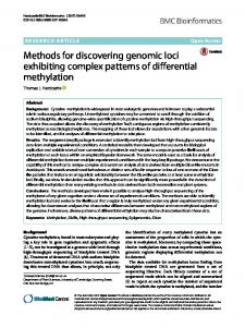 Methods for discovering genomic loci exhibiting complex ...www.researchgate.net › publication › fulltext › Methods-f