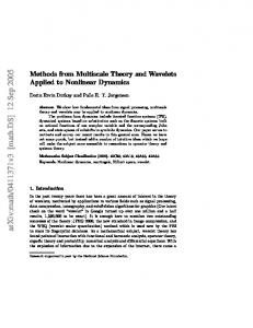 Methods from Multiscale Theory and Wavelets Applied to Nonlinear