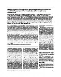 Methods to Identify and Characterize Developmental Neurotoxicity for ...
