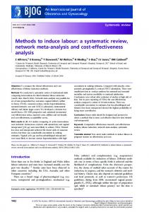 Methods to induce labour - Wiley Online Library