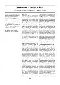 Methotrexate in psoriatic arthritis - Clinical and Experimental ...