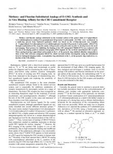 Methoxy-and Fluorine-Substituted Analogs of O-1302: Synthesis and ...