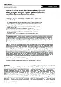 Methoxylated and hydroxylated polybrominated diphenyl ethers in ...
