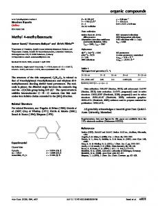 Methyl 4-methylbenzoate - Semantic Scholar