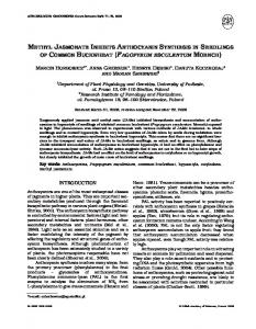 methyl jasmonate inhibits anthocyanin synthesis in ... - Semantic Scholar