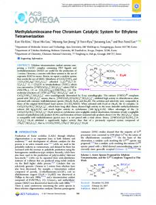 Methylaluminoxane-Free Chromium Catalytic ... - ACS Publications