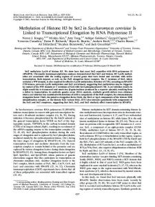 Methylation of Histone H3 by Set2 in Saccharomyces cerevisiae Is ...