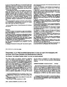 Methylenebis(2-chloroaniline)in Urine by ... - Clinical Chemistry