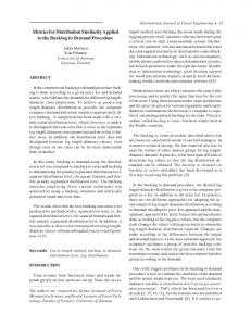 Metrics for Distribution Similarity Applied to the Bucking to ... - CiteSeerX